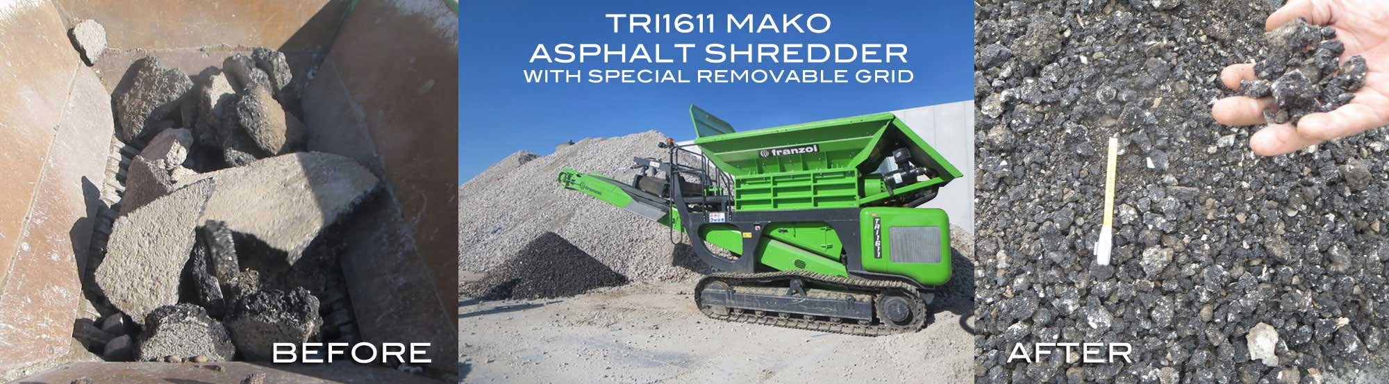 asphalt shredder